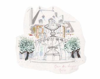Sketch: Place des Vosges, Paris
