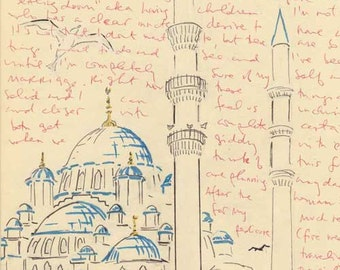 Travel Sketch: Yeni Cami (Exterior), Istanbul