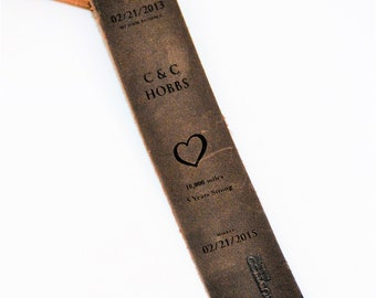 Custom Premium Leather Book Mark - Engraved and customized