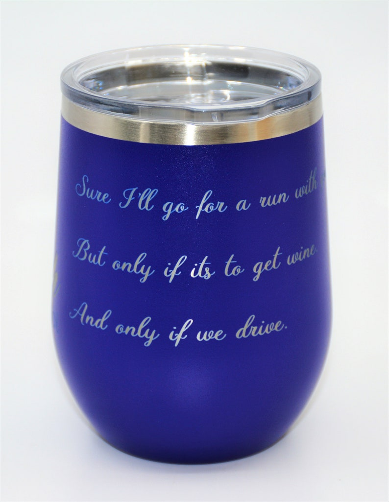 Wine Tumbler 100/% Customized All Customization Included in the price Insulated Stemless Stainless Steel Wine Glass