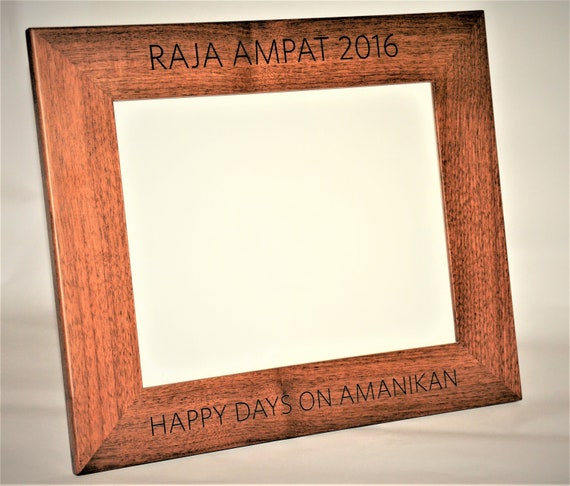 8x10 Laser Engraved Walnut Picture Frame Custom picture | Etsy