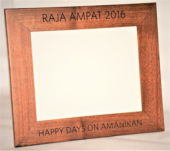 8x10 Laser Engraved Walnut Picture Frame Custom Picture Etsy