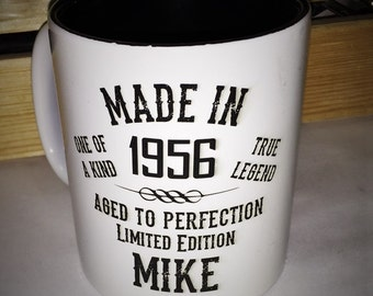 Custom engraved 16oz Bistro Mugs, personalized mugs, Laser Engraved Mugs, White with Black lettering