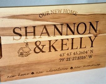Personalized cutting board Custom gift for New Homeowners Housewarming Gift wood cutting board Housewarming gift Anniversary chopping board