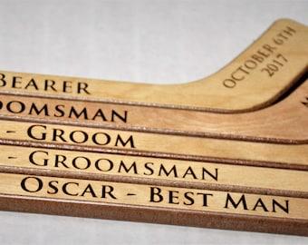 1 Personalized Mini Hockey Stick , Ring Bearer Gift, Groomsman Gift, Best Man Gift, Engraved Hockey coaches gift, newborn gift