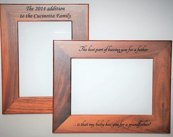 Walnut Or Alder Laser Engraved Wooden Picture Frames personalized. All design and engraving is included Anything can be engraved.
