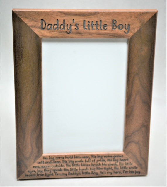 8x10 Laser Engraved Walnut Picture Frame Custom Picture Frame Personalized Picture Frame 8x10 Custom Engraved Wooden Picture Frame