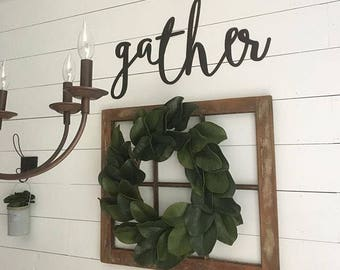SALE! Gather laser cut word- not painted