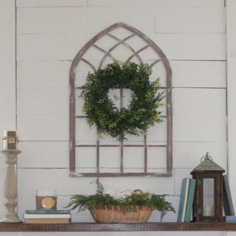 Laser Cut Cathedral Window Arch Farmhouse Style image 0