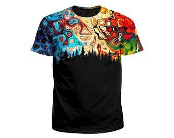 d1ef1858165 Albert Einstein T-Shirt Trippy Graphic Art Tee LSD