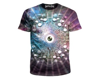 Psychedelic T Shirt - Space Eye Art - Visionary Clothing - Sublimation Print