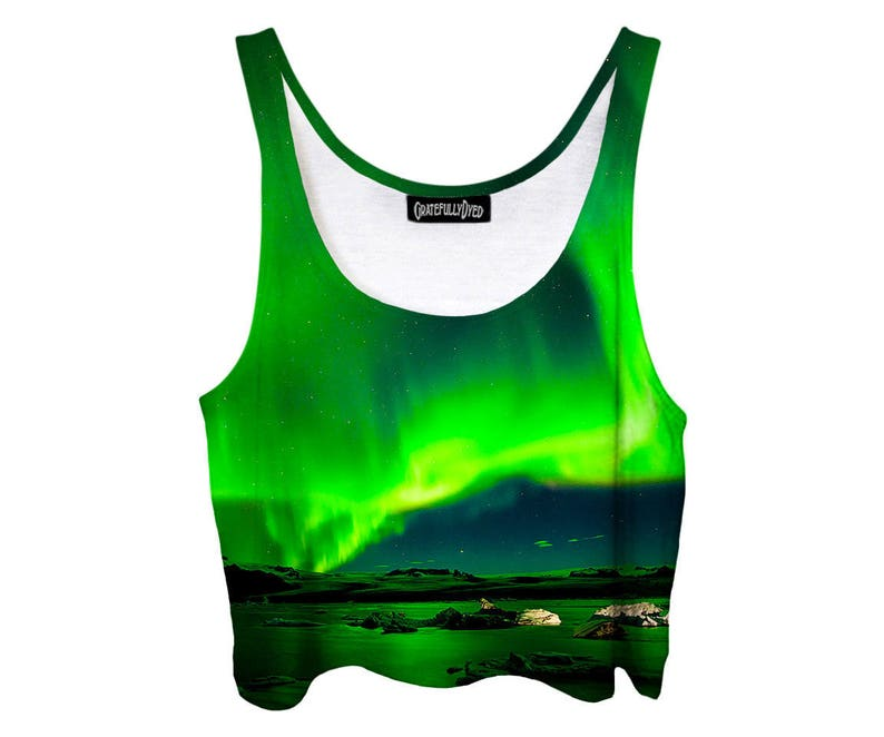 dcd2883bafa Perfect Summer Concert Shirt Bright Green Crop Top Aurora | Etsy