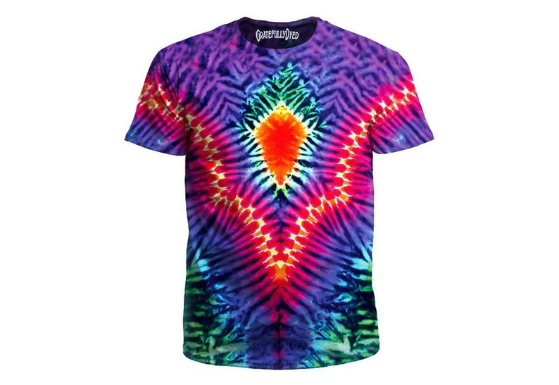 2cb78befbba3 Psychedelic Rainbow Tie-Dye T-Shirt Trippy All Over Print