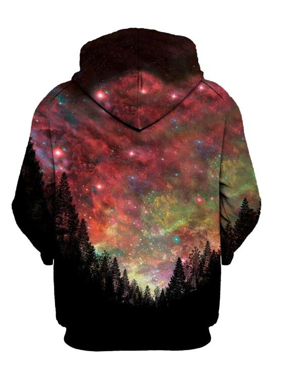 Waren des täglichen Bedarfs begrenzte garantie im Angebot Psychedelic Hoodie - Trippy Space Hoodies - Galaxy Festival Clothing - EDM  Rave Wear