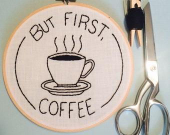Hand Embroidery, Hoop Art,  Wall Decor