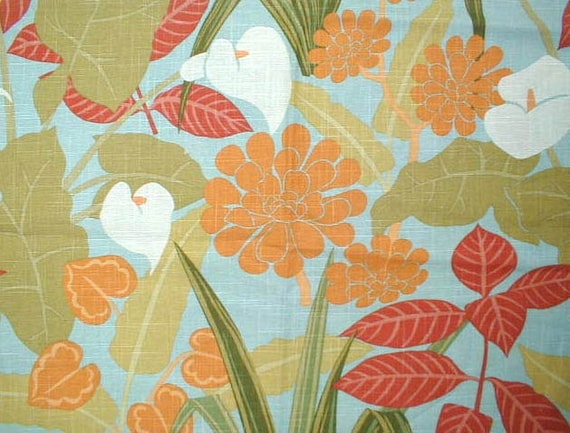 Home Decor Fabrics By The Yard: Fabric By The Yard Home Decor Floral Fabric Bark Cloth