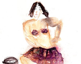 female figure art etsy