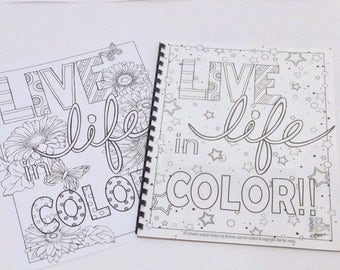 Live Life in COLOR coloring book!
