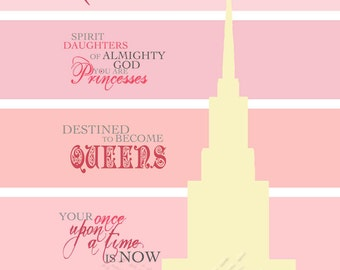 Your Once Upon A Time is Now Temple Silhouette 8x10 Printable Quote Typography