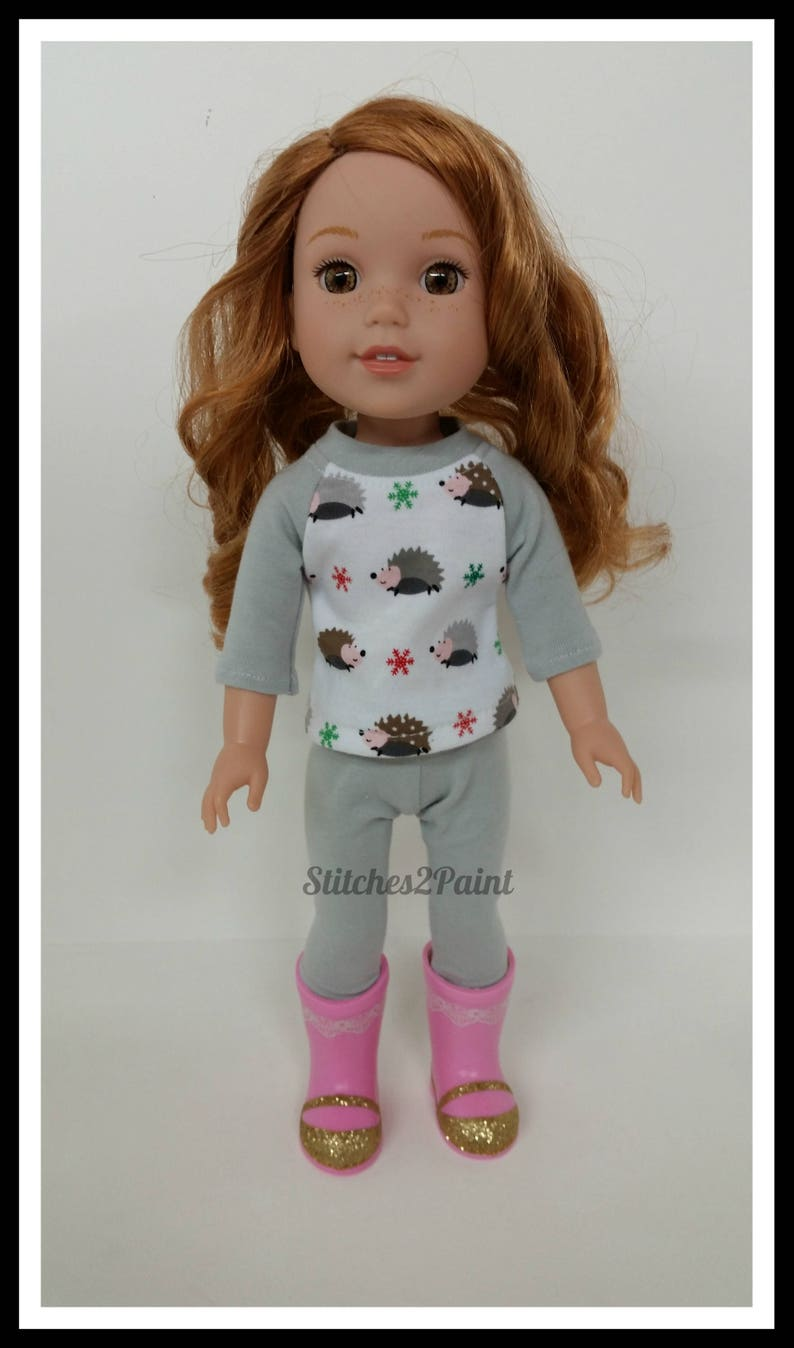 Fit For 14.5/'/' American Girl Doll Toy Willa Wellie Wishers Rainboots Boots Shoes