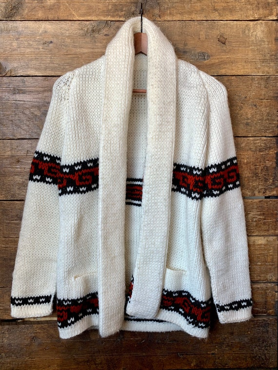 70s southwestern chunky knit sweater - oversized o