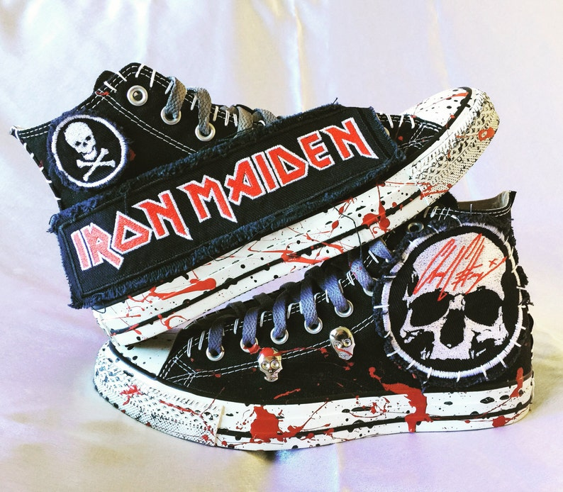 6fca238836b Iron Maiden shoes by Chad Cherry