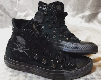 Planet Skull shoes by Chad Cherry