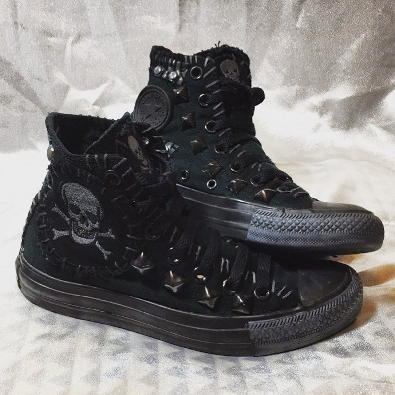 d481baf85a08 Planet Skull shoes by Chad Cherry