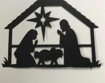 Christmas Religious Nativity Scene Traditional Punches Scrapbooking 10-3/""