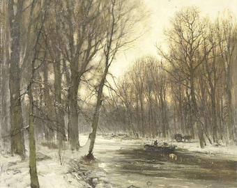 Snowy Woods Painting Etsy
