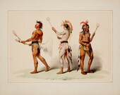 George Catlin 39 s North American Indian Portfolio quot Ball Players (Lacrosse) quot (1844) - Giclee Fine Art Print