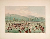 George Catlin 39 s North American Indian Portfolio quot An Indian Ball-Play (Lacrosse) quot (1844) - Giclee Fine Art Print