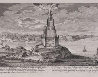 """Johann Fischer 1721 — Giclee Fine Art Print /""""The Pyramids of Egypt/"""""""