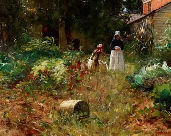 """William Forsyth : """"In the Garden"""" (1891) - Giclee Fine Art Print"""
