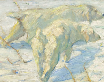 """Franz Marc : """"Siberian Dogs in the Snow"""" (1909/1910) - Giclee Fine Art Print"""