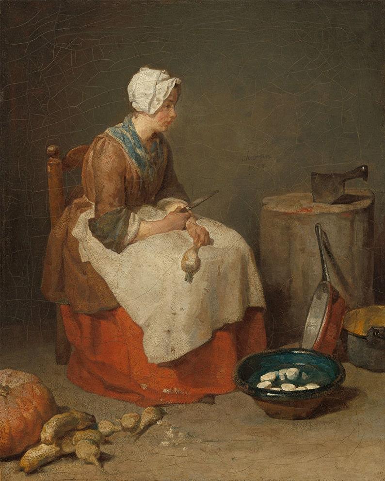Fine Art Jean ChardinThe Simeon Print Kitchen Maid1738Giclee Y7f6gImbyv