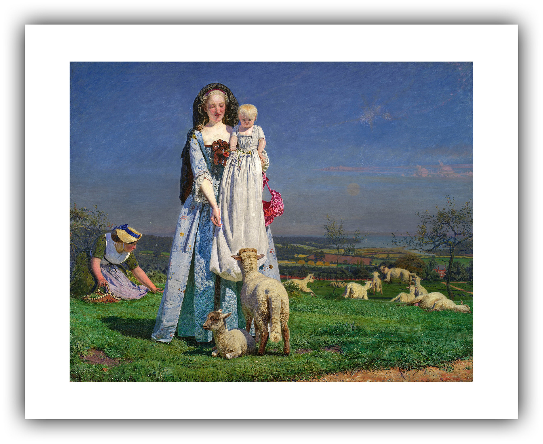 Ford Madox Brown Pretty Baa Lambs 1851 1859 Etsy