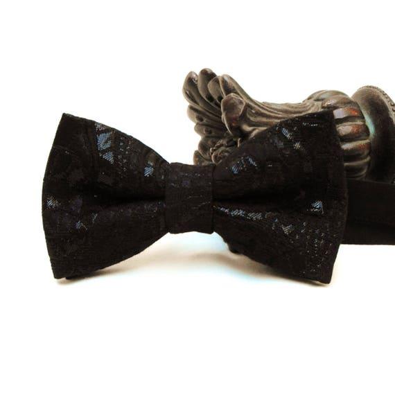 Noir Brillant Polyester Prêt Pre-Tied Bow Tie /</> plus U acheter /> le plus U enregistrer