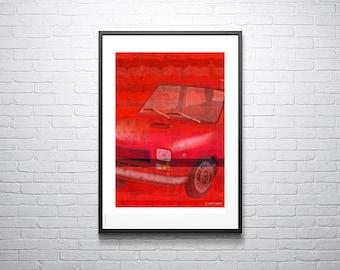 Blusing Fiat, retro car