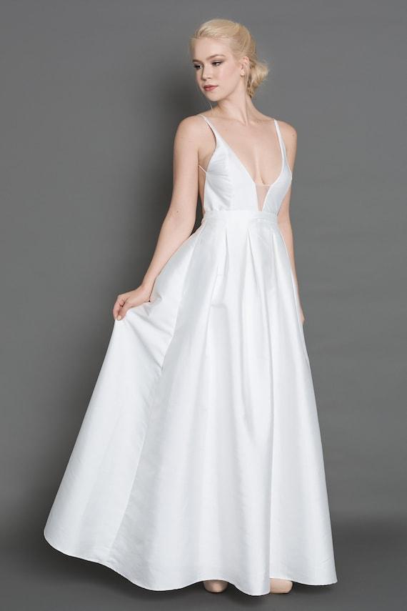 GRACE Open back wedding dress/ backless wedding dress/ | Etsy