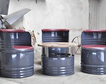 Fass Sitzgruppe Aus 200 Liter Neu Fässer Ölfass Fassmöbel