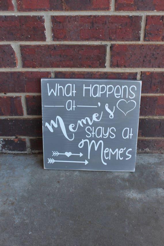 Meme Sign Gift For Meme Custom Sign Personalized Sign Wood Etsy