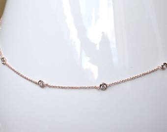 Necklace pink gold