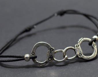 Bracelet black handcuff