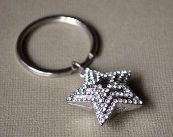 Star Keyring domed