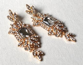Clear crytal earrings