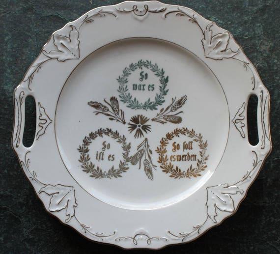 Teller Silberhochzeit Silberne Hochzeit Geschenk Silver Wedding Antik Vintage