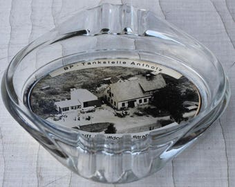 Ashtray photo with vintage 50s 50s 60s 60s Sellstedt Bremerhaven advertising