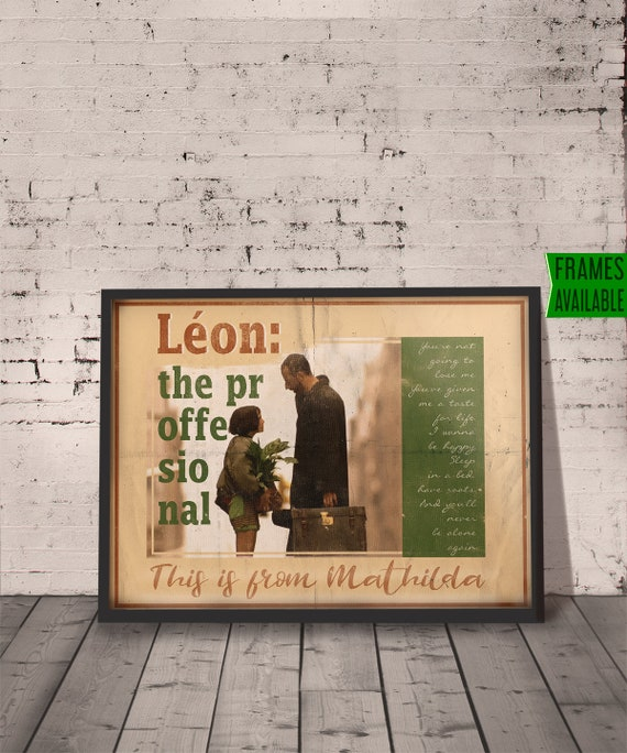 Leon The Professional Movie Canvas Picture A4 A3 A2 A1 Print Ready To Hang