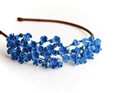 Blue flower hair accessory, hair accessories, blue Headband  ,blue flower girl crown, floral headband, Headband baby hair, gift for her